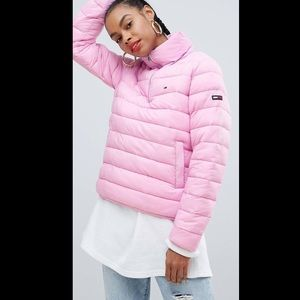 Quilted over the head padded jacket